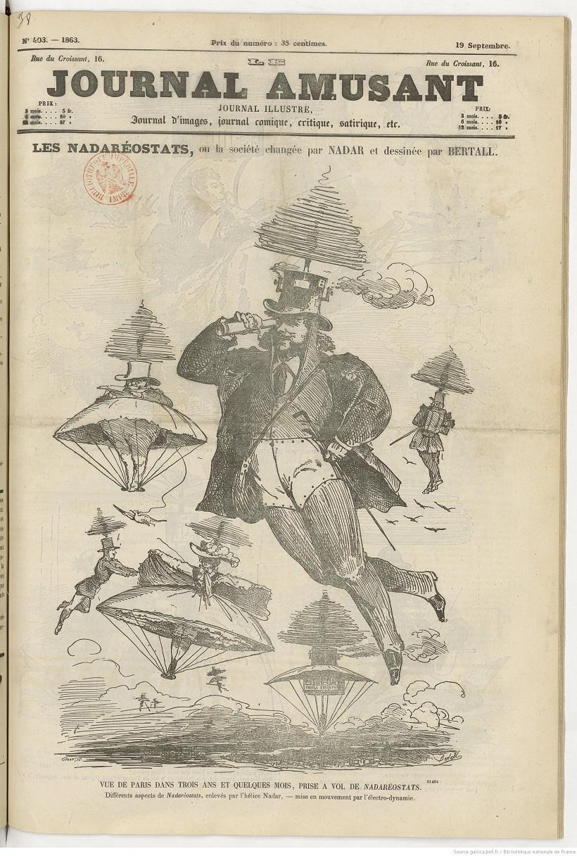 Les Nadaréostats en couverture du Journal amusant en 1863